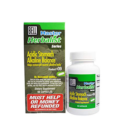 Bell Master Herbalist Acidic Stomach Alkaline Balance #38 646mg - 60 capsules