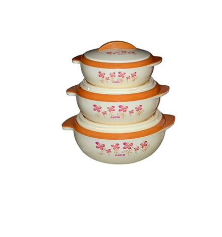 CELLO SIZZLER 3 PCS INSULATED FOOD SERVER SET